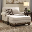 Signature Design by Ashley Harleson Chair and a Half & Ottoman - Item Number: 1510423+14