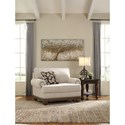 Signature Design by Ashley Harleson Transitional Chair and a Half with Nailhead Trim