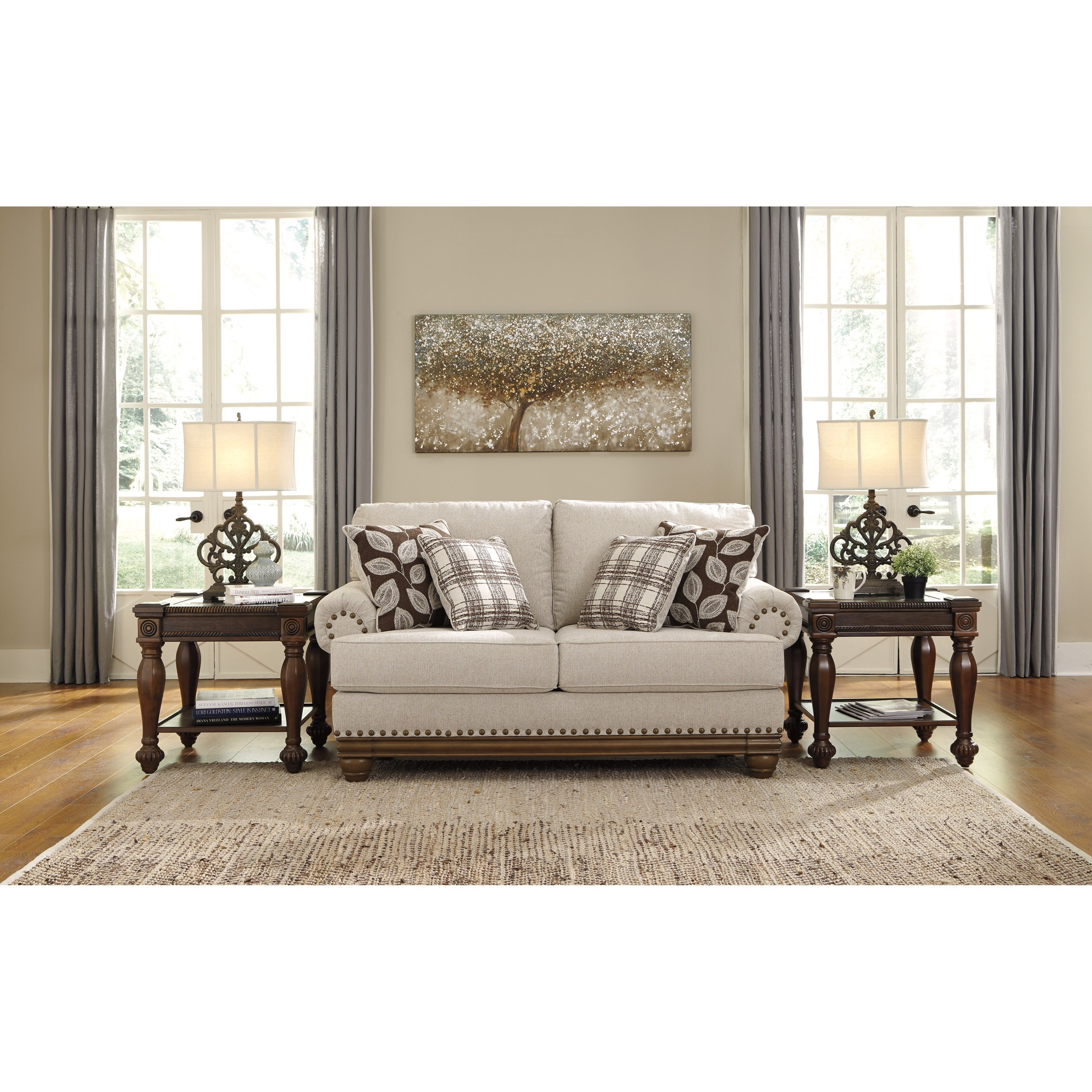 Signature Design By Ashley Harleson Transitional Love Seat