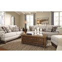 Signature Design by Ashley Harleson Transitional Love Seat with Nailhead Trim