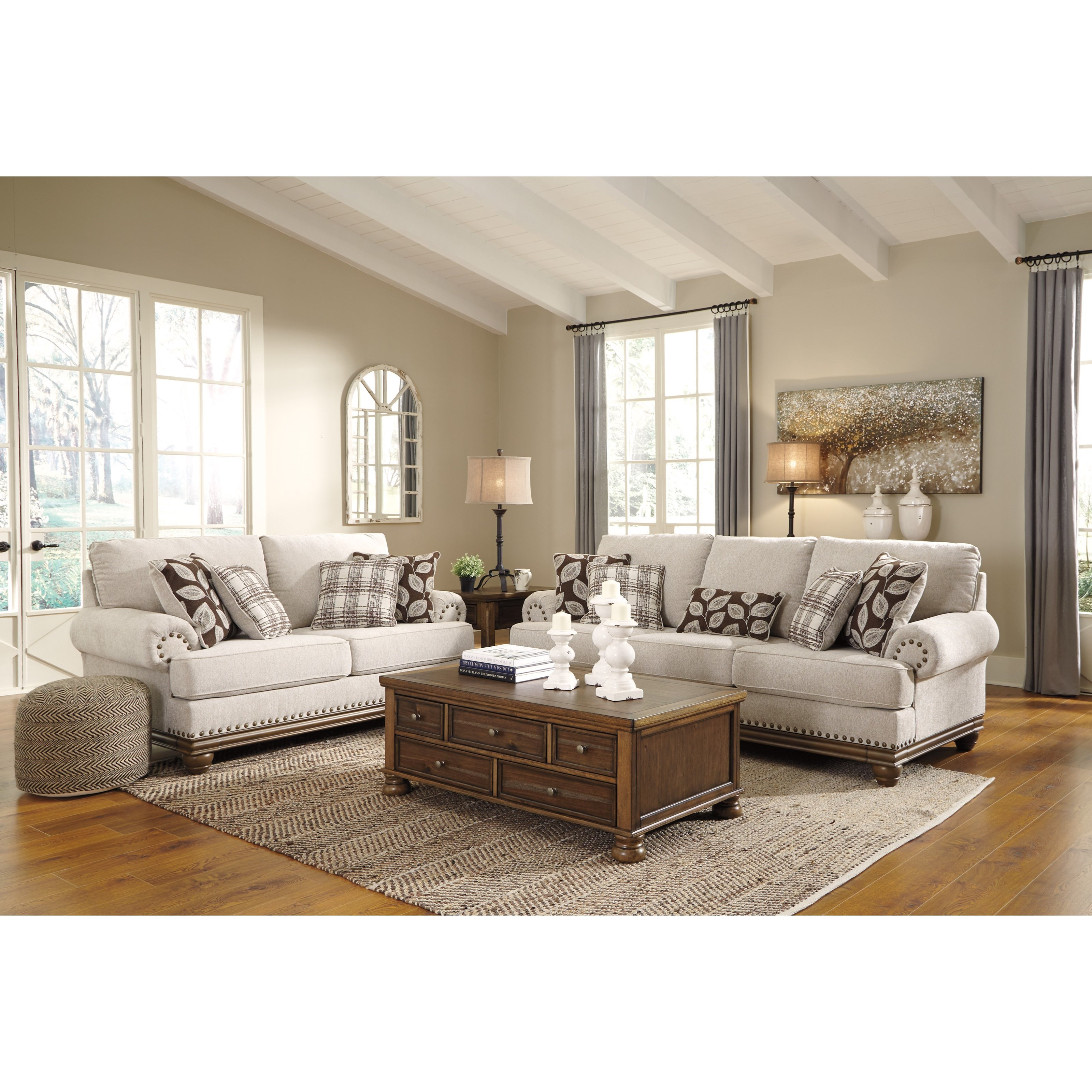 Ashley Design: Signature Design By Ashley Harleson Transitional Sofa With