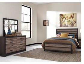 Harlinton King Bedroom Set, Dresser and Mirror by Ashley (Signature Design) at Johnny Janosik