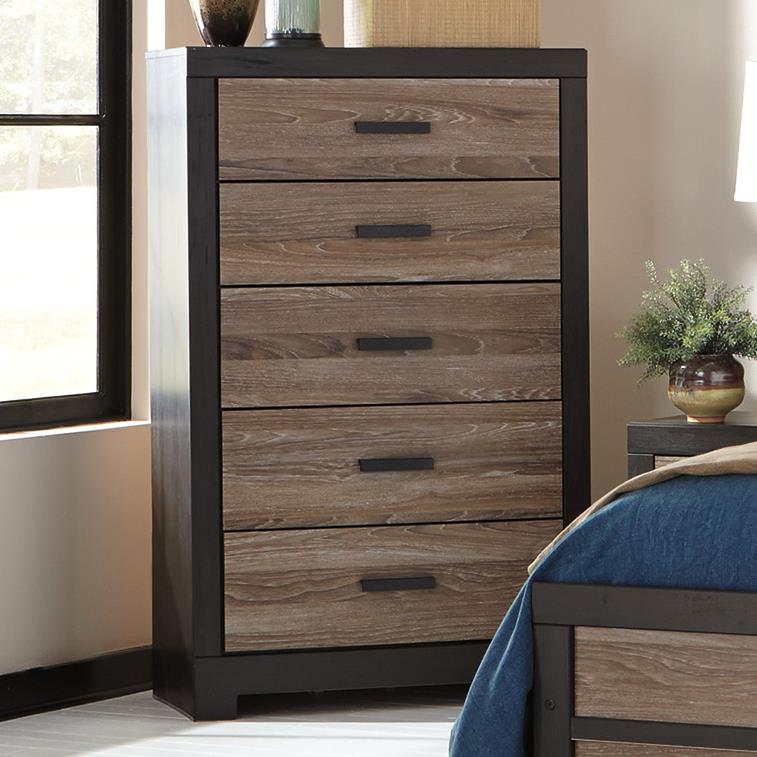 Signature Design by Ashley Harlinton Five Drawer Chest - Item Number: B325-46