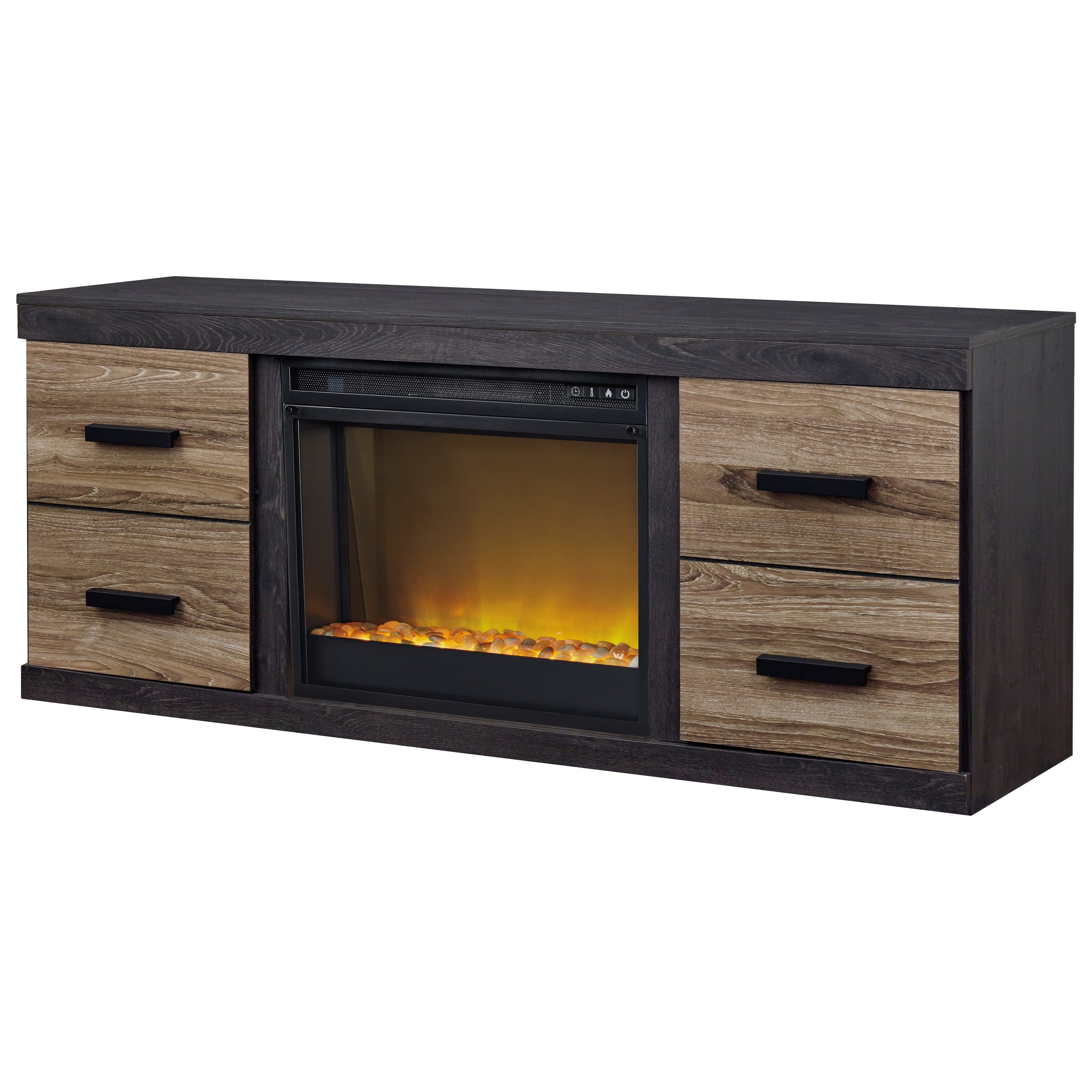 Harlinton Large TV Stand w/ Fireplace Insert by Ashley (Signature Design) at Johnny Janosik