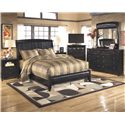 Signature Design by Ashley Harmony Queen Bedroom Group - Item Number: B208 Q Bedroom Group 2