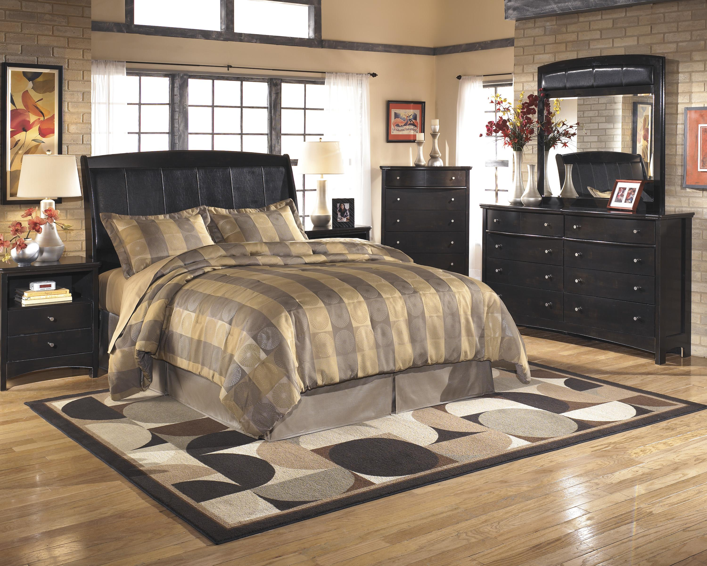 Signature Design by Ashley Harmony Queen/Full Bedroom Group - Item Number: B208 Q Bedroom Group 3