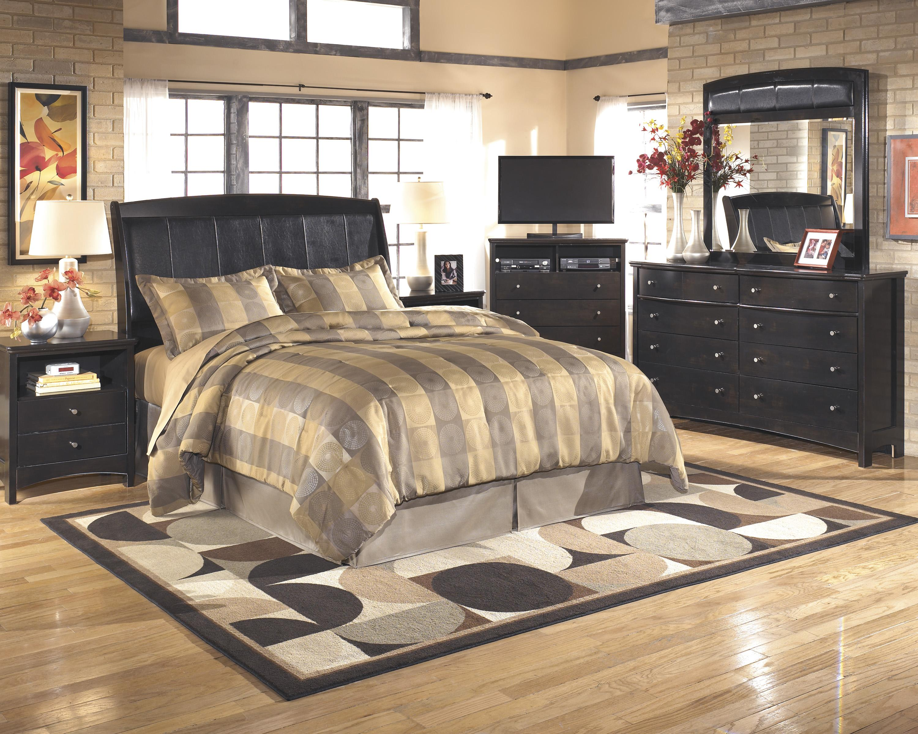 Signature Design by Ashley Harmony Queen/Full Bedroom Group - Item Number: B208 Q Bedroom Group 4