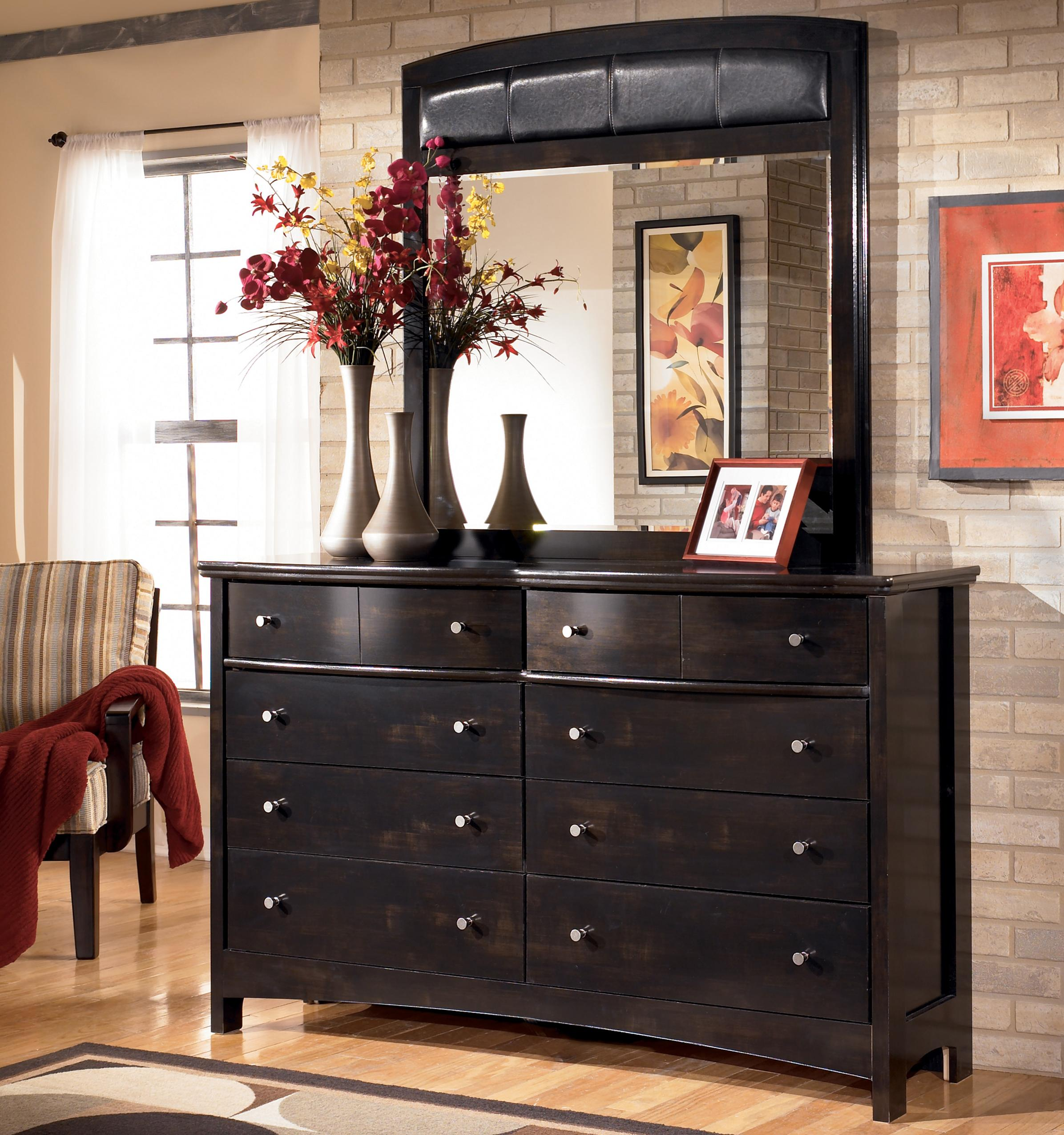 Signature Design By Ashley Harmony Eight Drawer Dresser And Mirror Del Sol Furniture Dresser