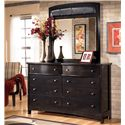 Signature Design by Ashley Harmony Dresser and Mirror - Item Number: B208-31+36