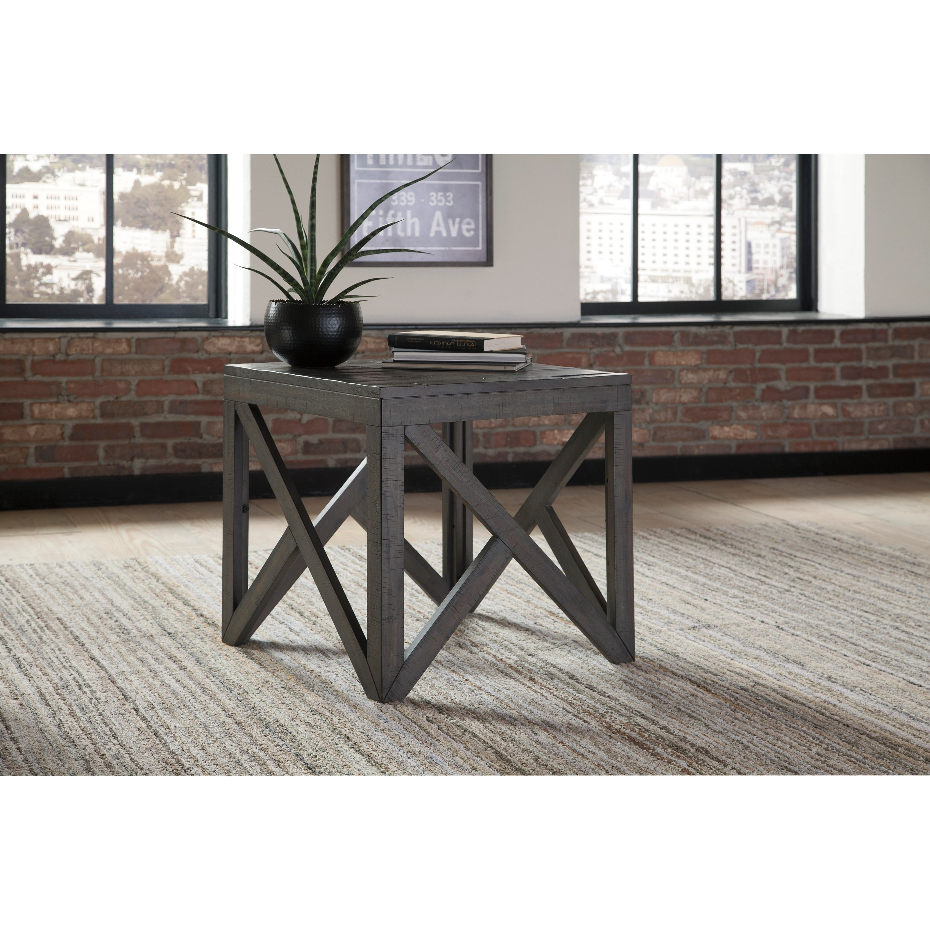 Marble Coffee Table Furniture Village: Signature Design By Ashley Haroflyn Square End Table With