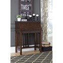 Signature Design by Ashley Harpan Home Office Drop Front Desk with Mission Style Slats