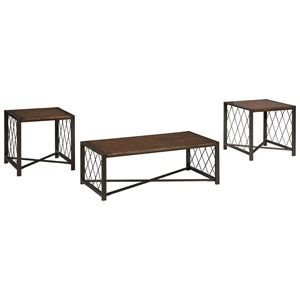 Signature Design by Ashley Harpan Occasional Table Set
