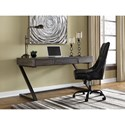 Signature Design by Ashley Harpoli Contemporary Home Office Desk with Three Drawers