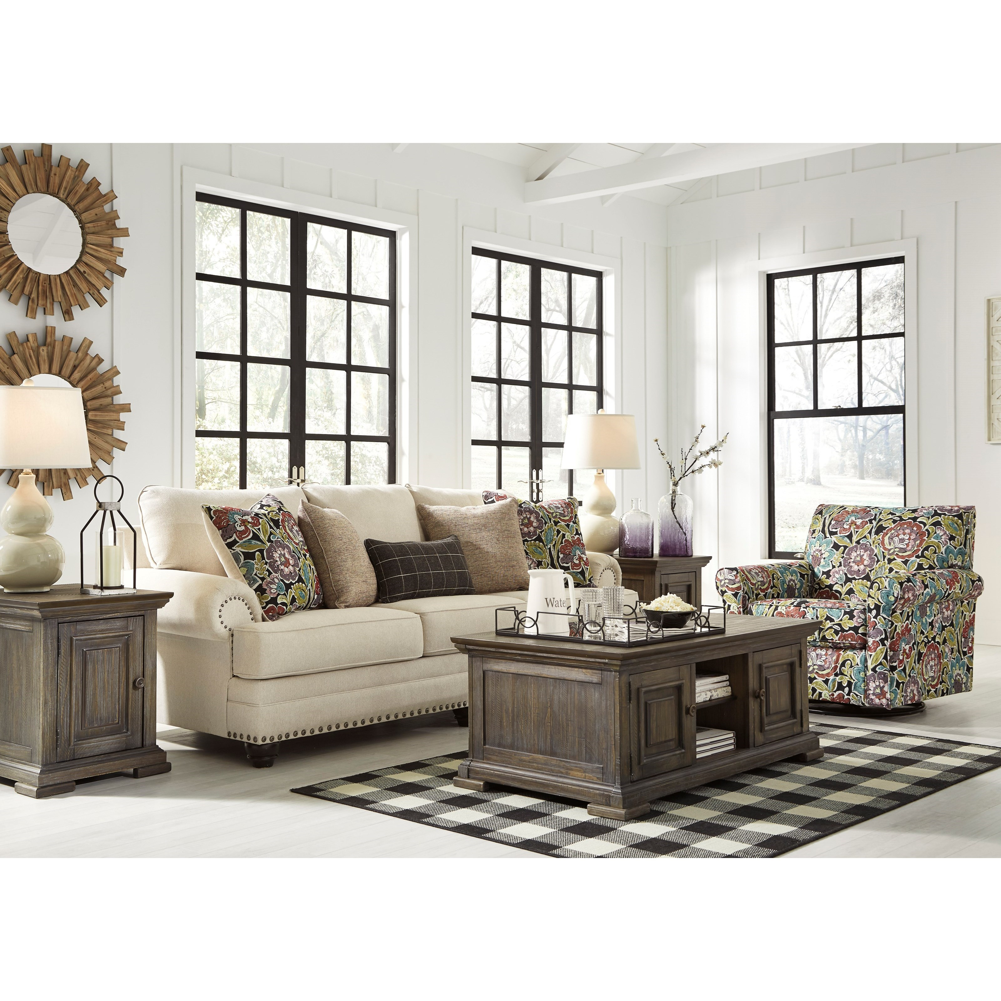 Ashley Design: Ashley Signature Design Harrietson Stationary Living Room