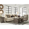 Signature Design by Ashley Harrietson Stationary Living Room Group - Item Number: 76604 Living Room Group 2