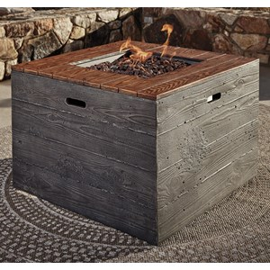 Signature Design by Ashley Hatchlands Square Fire Pit Table