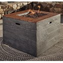 Signature Design by Ashley Hatchlands Square Fire Pit Table - Item Number: P015-772
