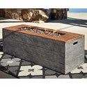 Signature Design by Ashley Hatchlands Low Rectangular Fire Pit Table - Item Number: P015-773