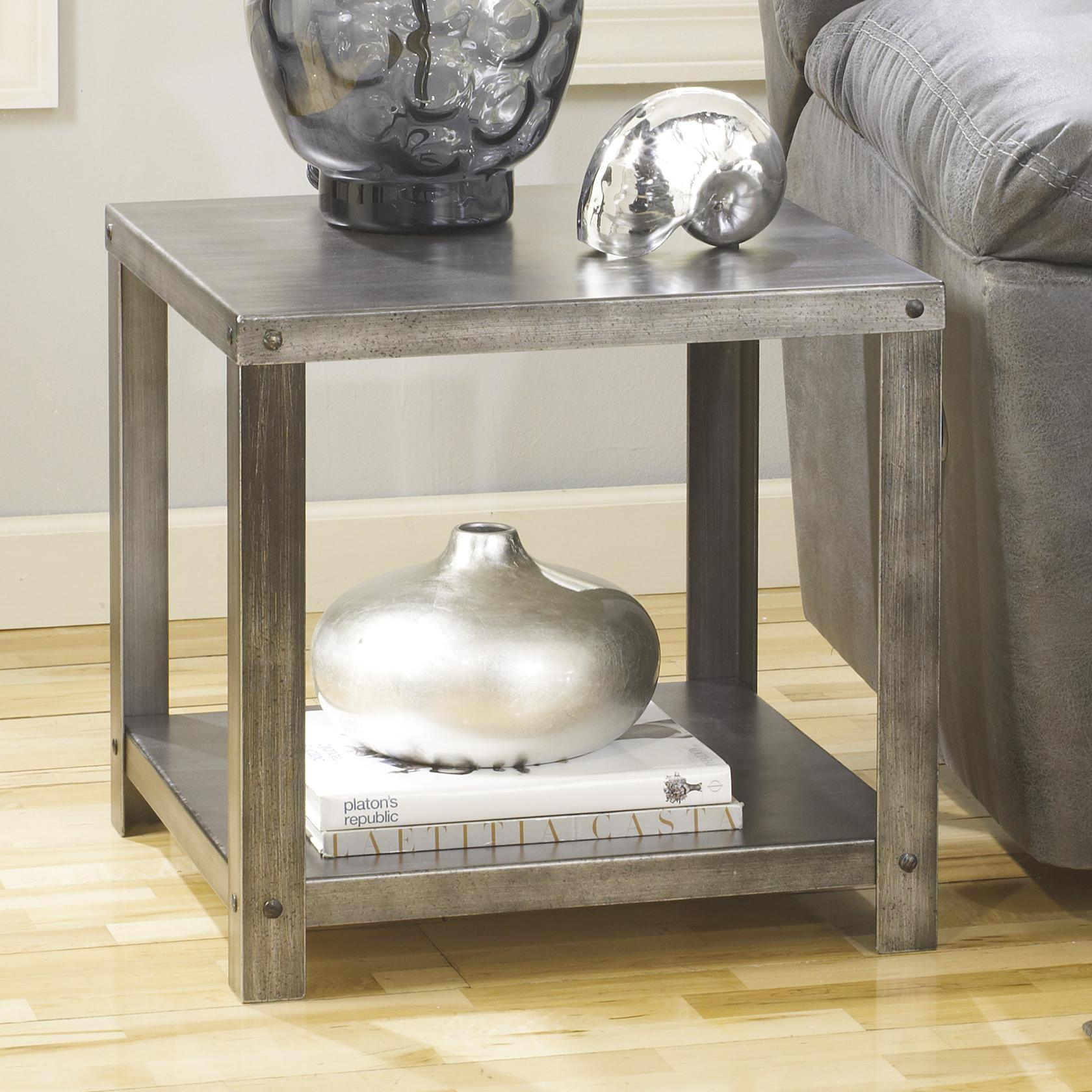 Signature Design by Ashley Hattney Square End Table - Item Number: T560-2