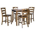Signature Design by Ashley Hazelteen Counter Height Dining Table Set - Item Number: D419-223
