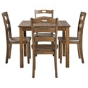 Signature Design by Ashley Hazelteen Dining Table and Chair Set  - Item Number: D419-225