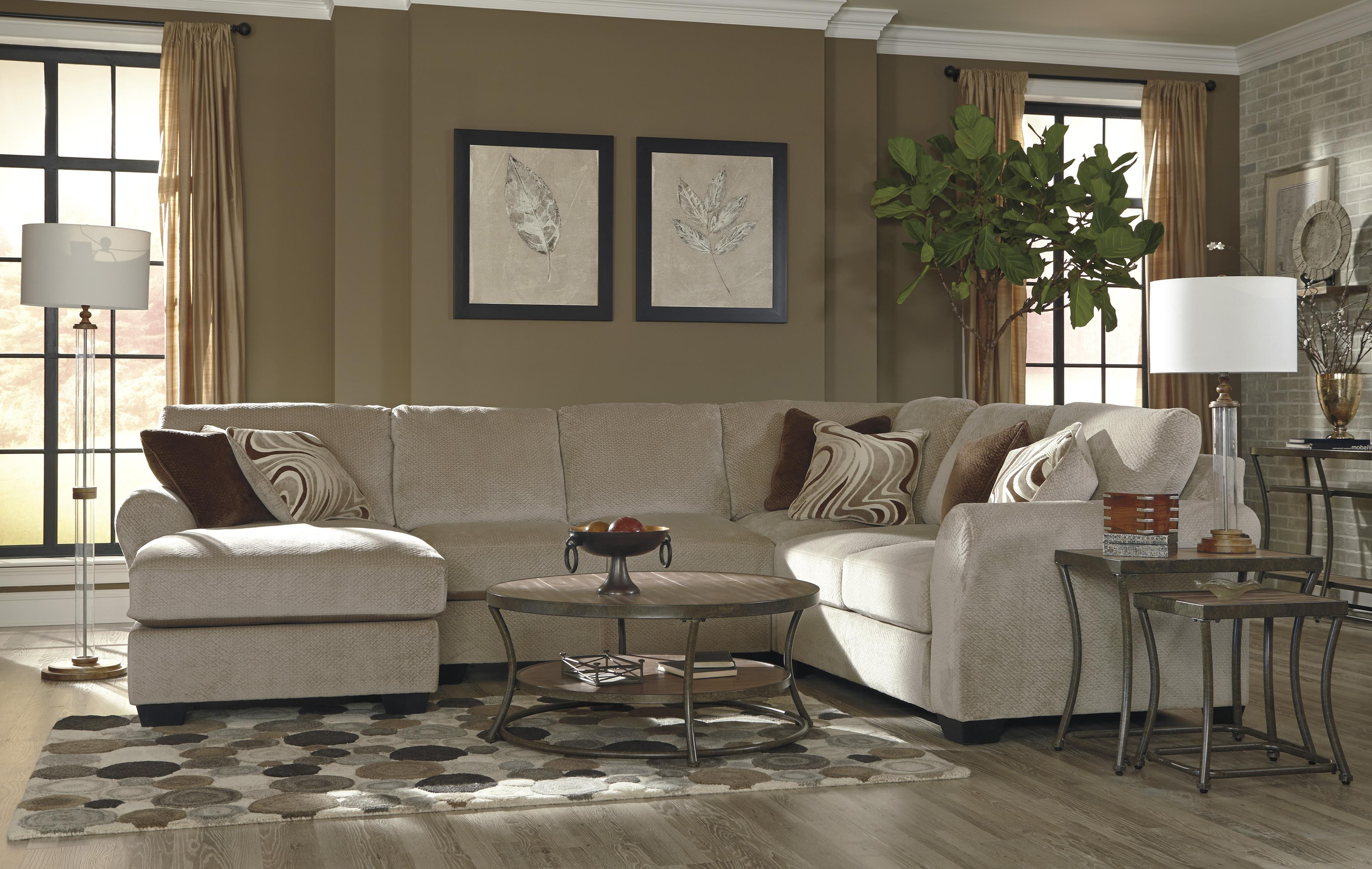 Benchcraft hazes 4 piece sectional w left chaise john v for 4 piece sectional with chaise