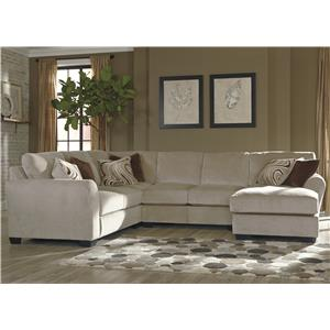 Benchcraft Hazes 4-Piece Sectional w/ Chaise