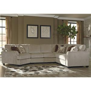 Benchcraft Hazes 4-Piece Sectional w/ Cuddler