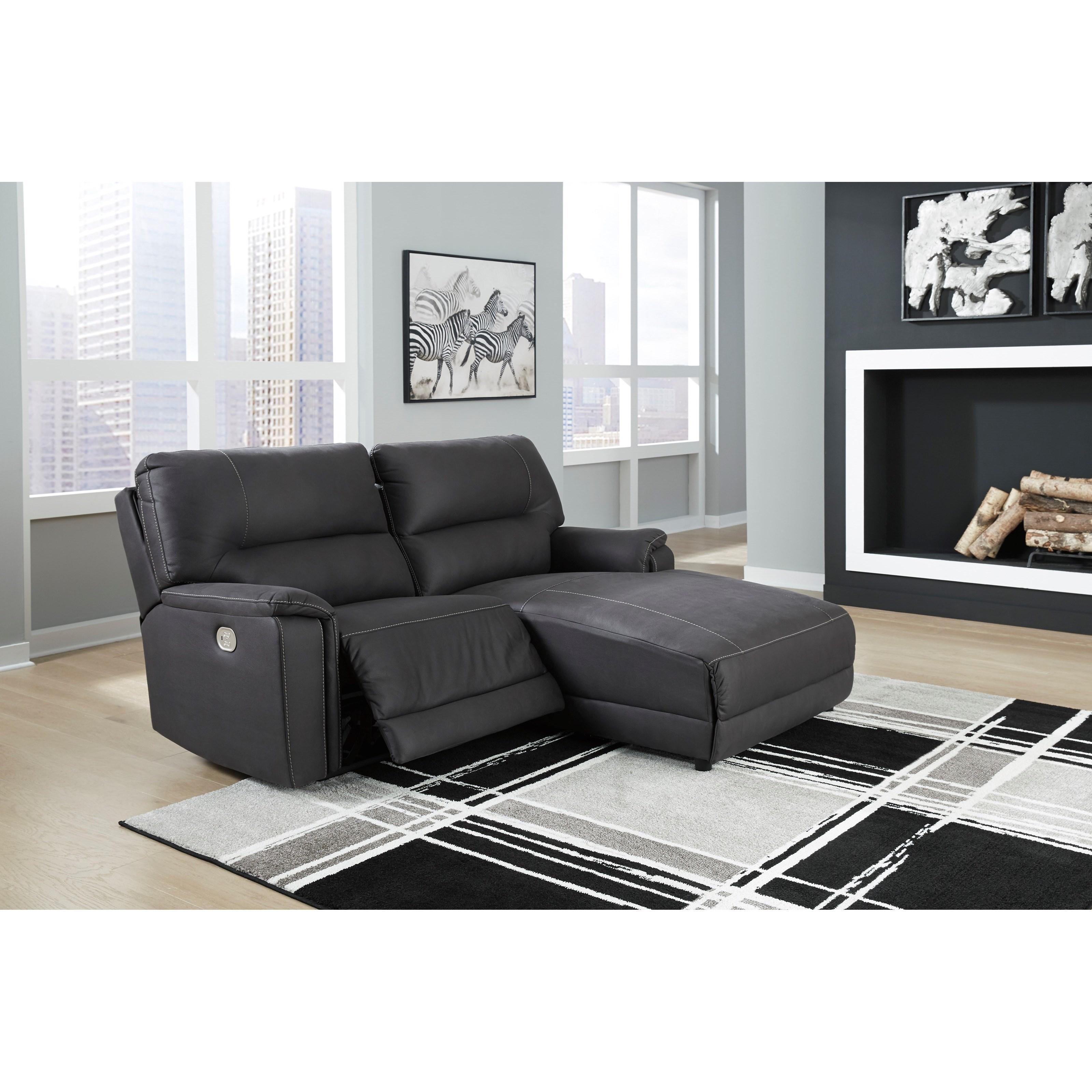 Henefer Power Reclining Sectional by Ashley (Signature Design) at Johnny Janosik