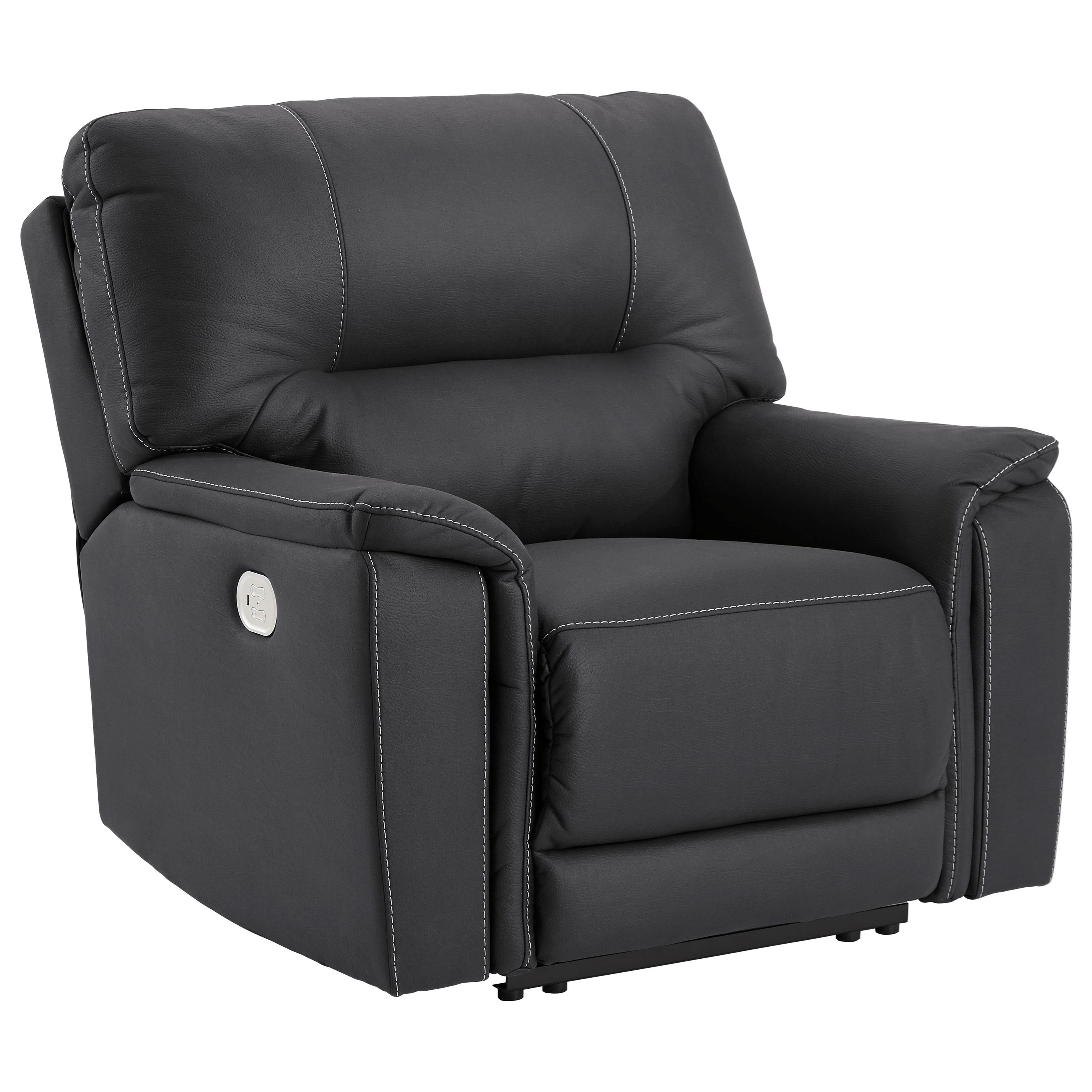 Henefer Power Recliner with Adjustable Headrest by Ashley (Signature Design) at Johnny Janosik