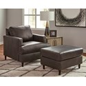 Signature Design by Ashley Hettinger Chair and Ottoman Set - Item Number: 4950120+14
