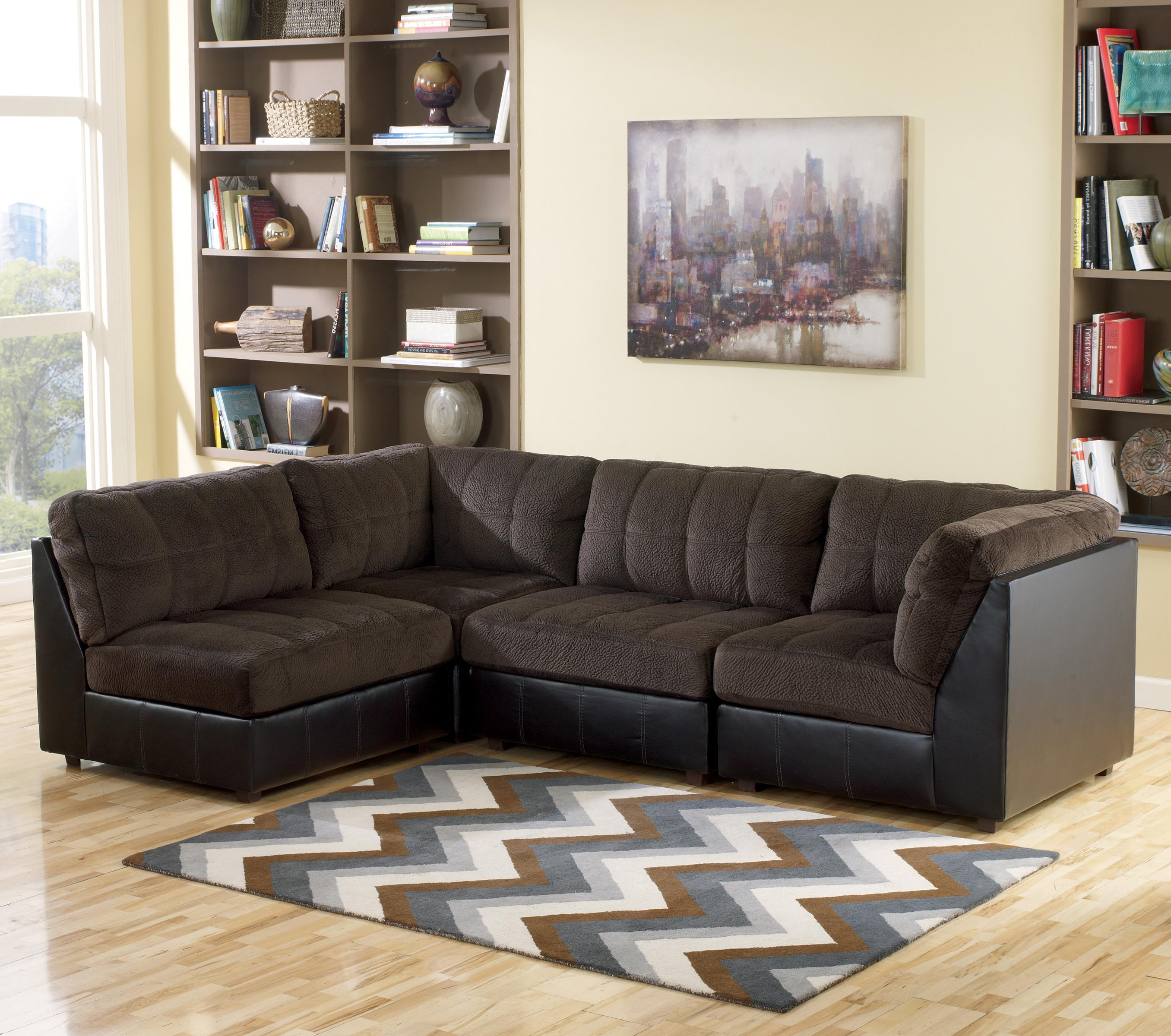 Ashley Furniture Sectional Chocolate signature designashley hobokin - chocolate contemporary 5