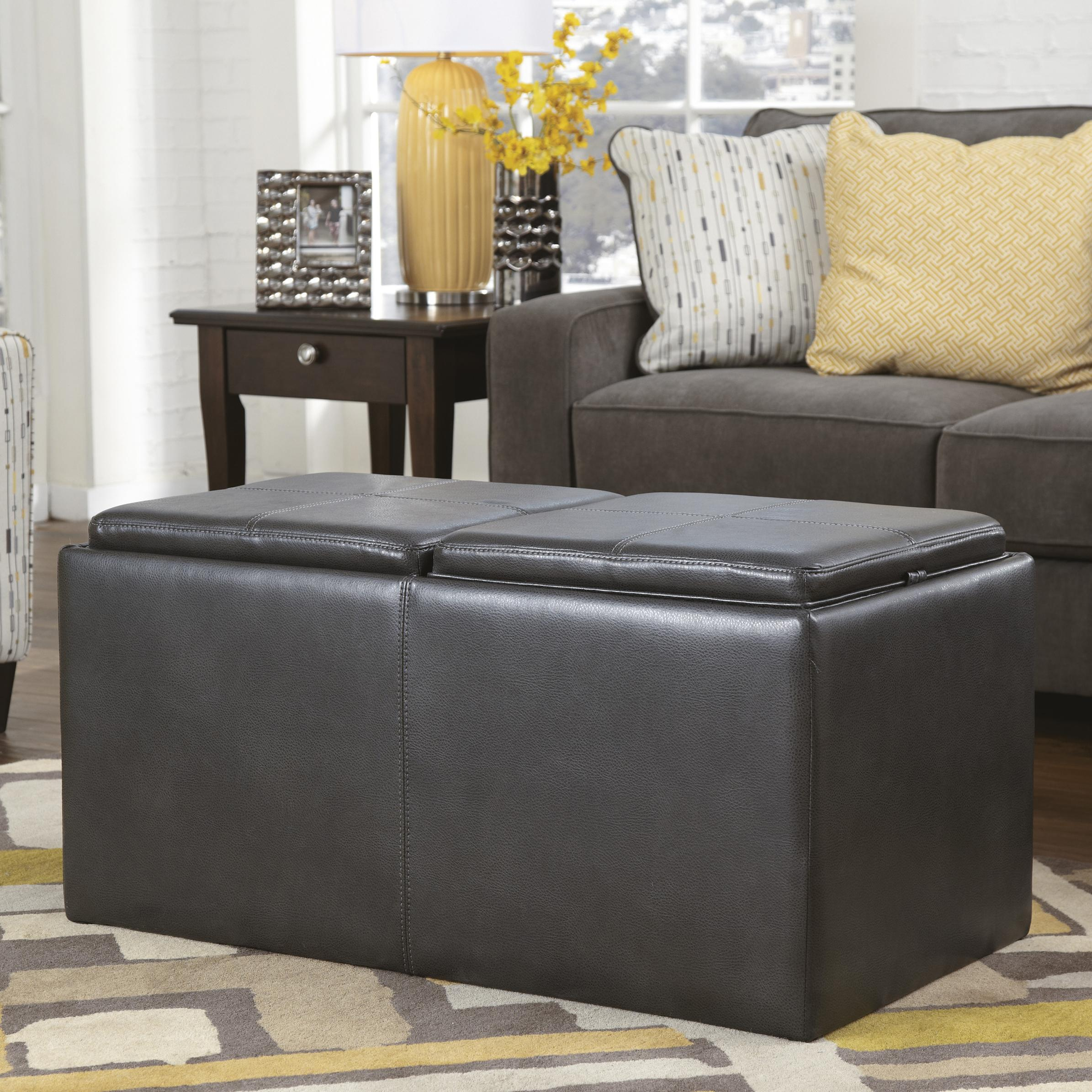 Signature Design by Ashley Hodan Ottoman With Storage - Item Number: 7970011
