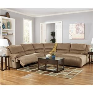 5 Piece Motion Sectional with Chaise