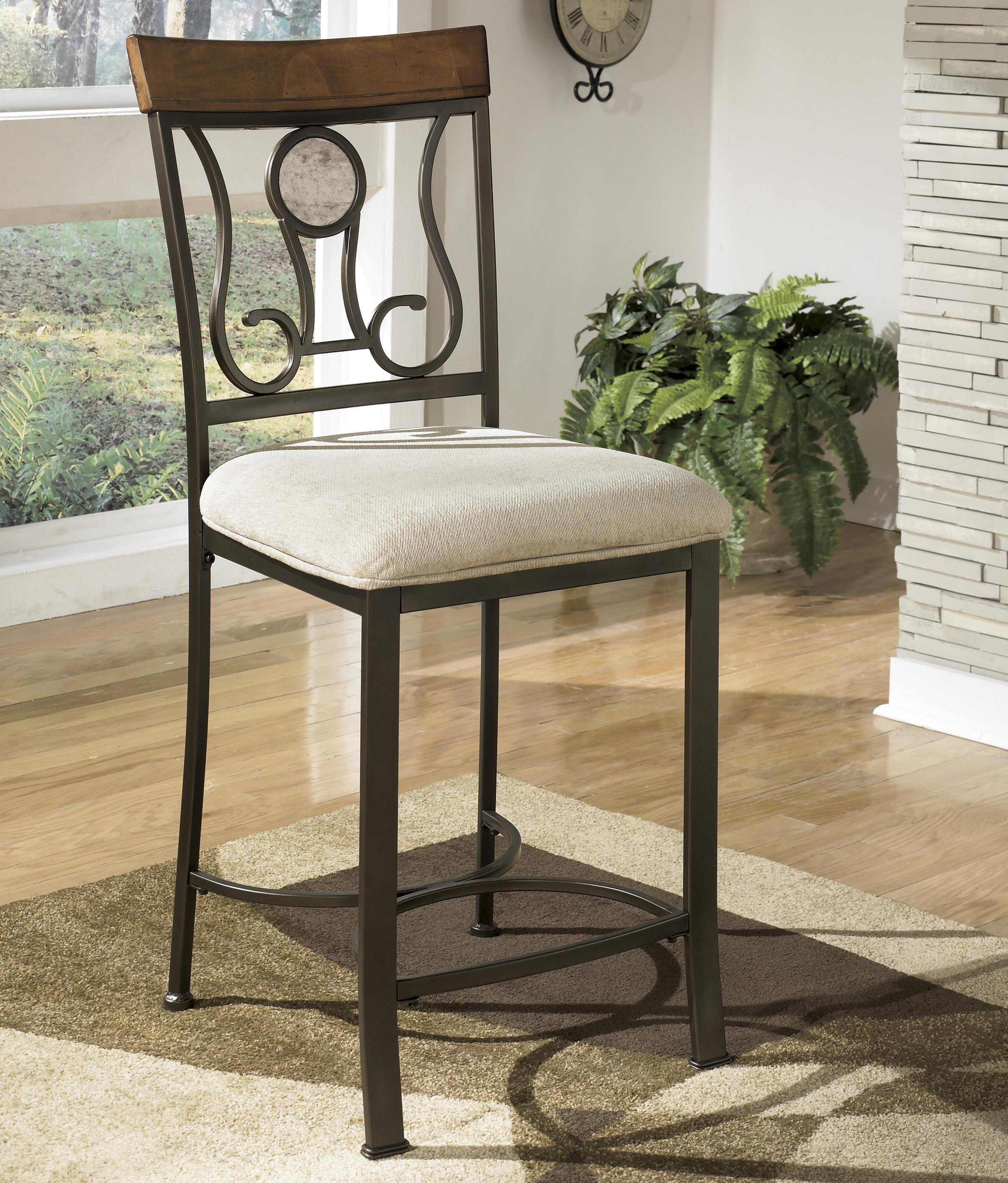 Signature Design by Ashley Hopstand Upholstered Barstool - Item Number: D314-124