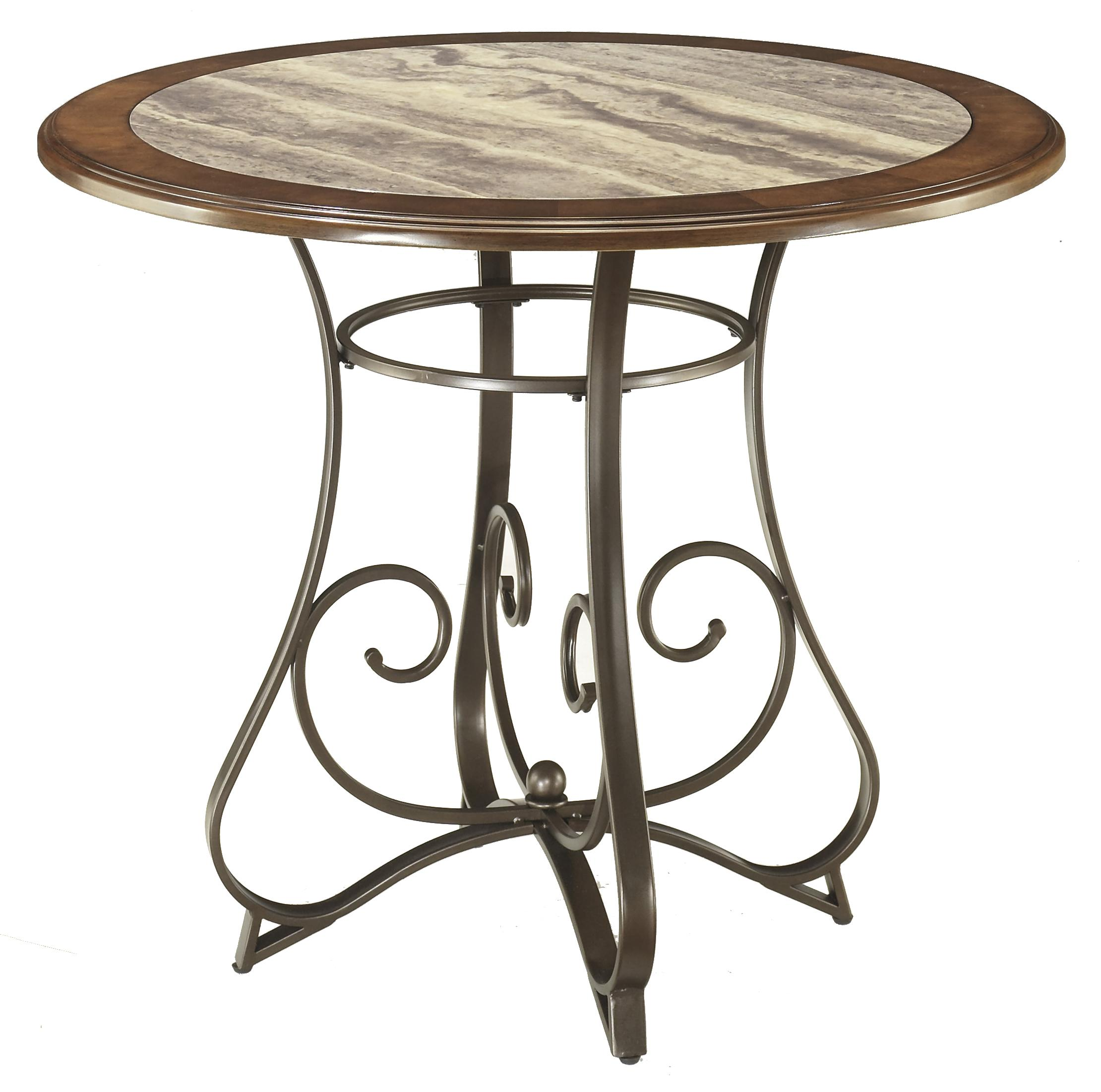 Signature Design by Ashley Tilley Round Counter Table - Item Number: D314-13B+T