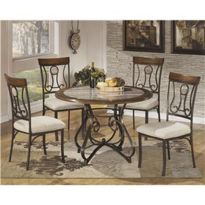 Signature Design by Ashley Hopstand 5-Piece Round Dining Table Set