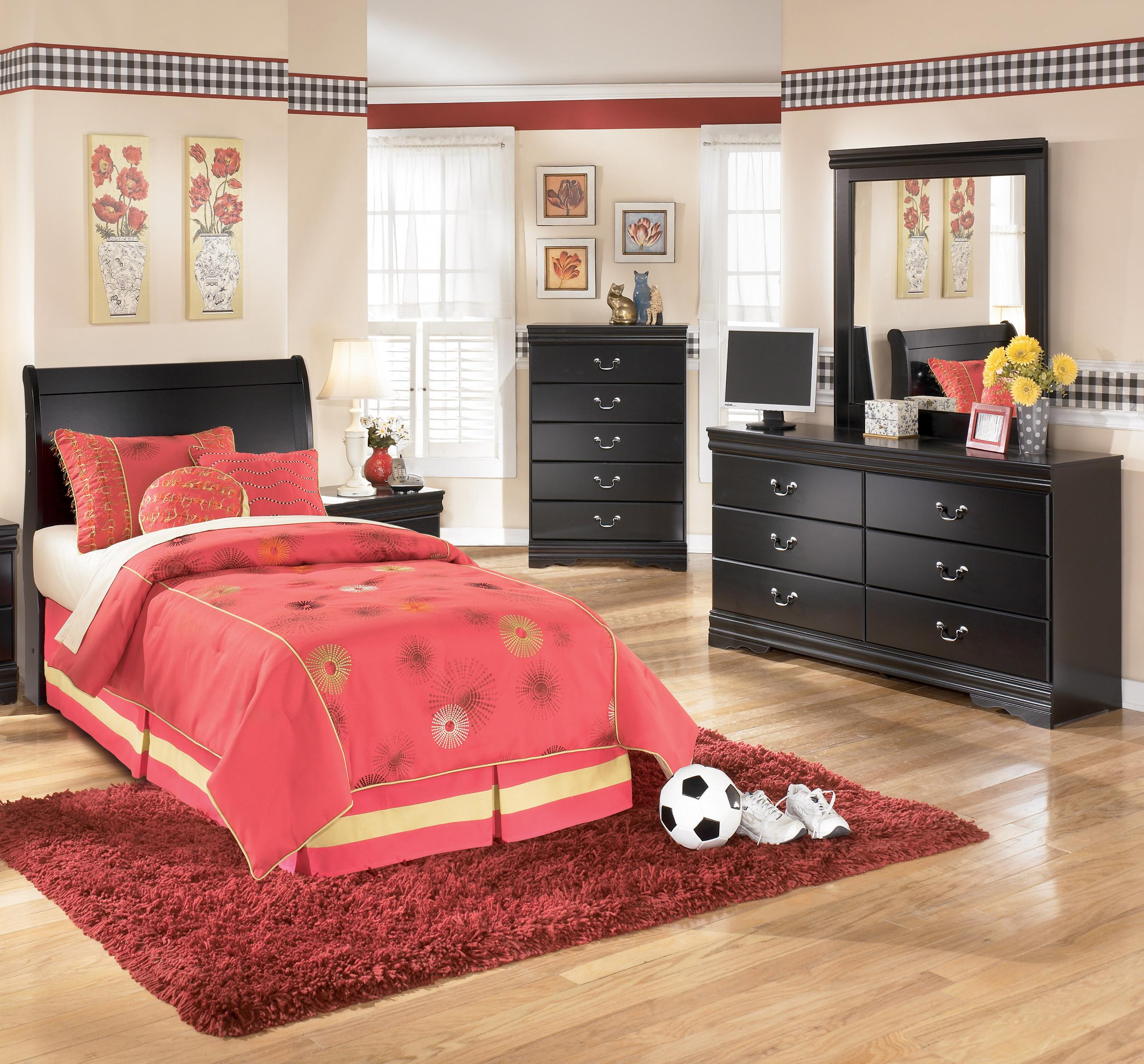 Signature Design by Ashley Huey Vineyard 3 Piece Twin Bedroom Group - Item Number: B128 T HB 3 Piece