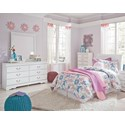 Signature Design by Ashley Anarasia 3-Piece Twin Bedroom Group - Item Number: B129 T HB 3 Piece