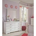 Signature Design by Ashley Anarasia 6-Drawer Dresser and Mirror Combination