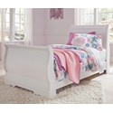 Signature Design by Ashley Anarasia Twin Sleigh Bed - Item Number: B129-62+63+82