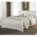 Signature Design by Ashley Anarasia Queen Sleigh Bed - Item Number: B129-77+74+98