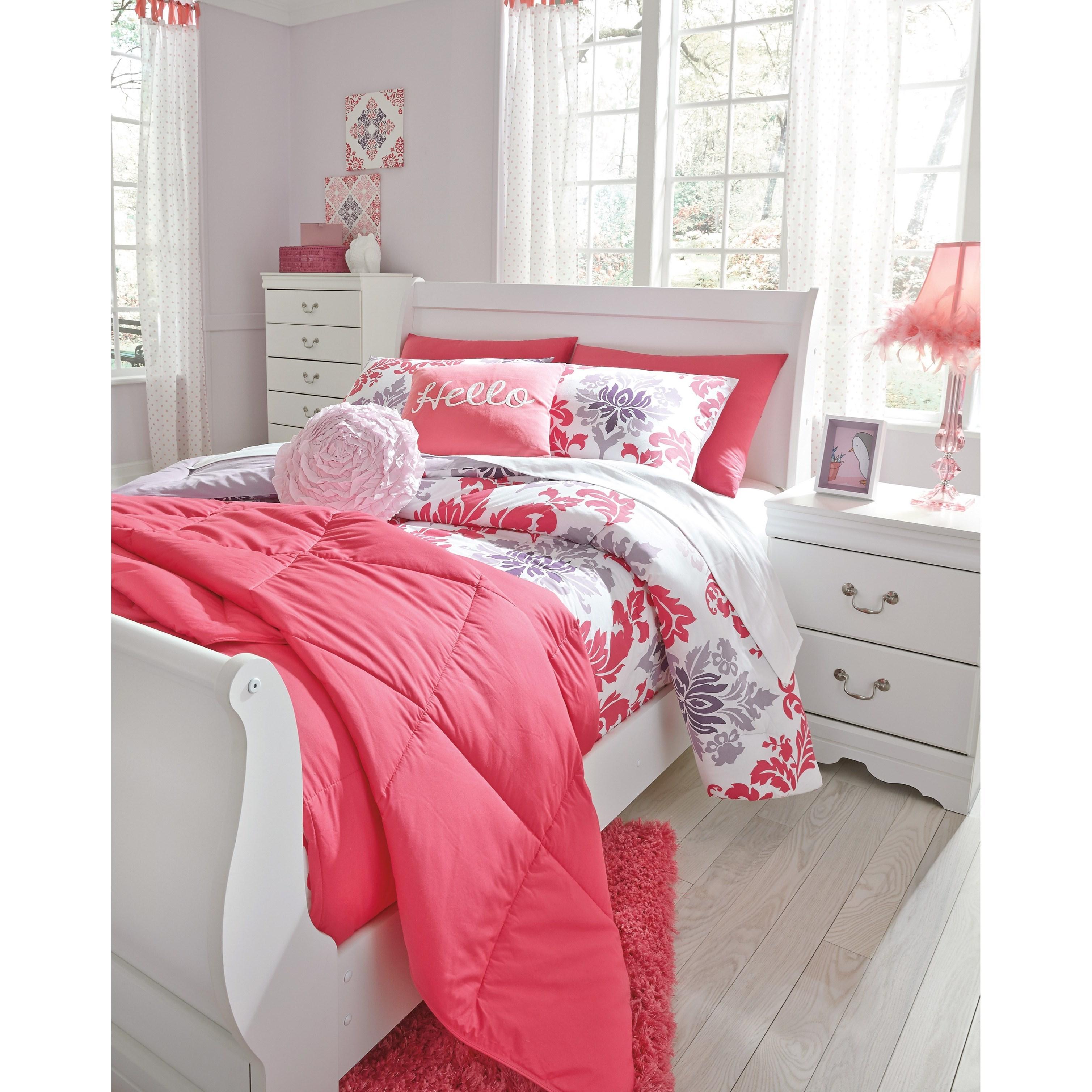 Timberline Sleigh Bedroom Set Signature Design: Ashley Signature Design Anarasia Full Louis Philippe