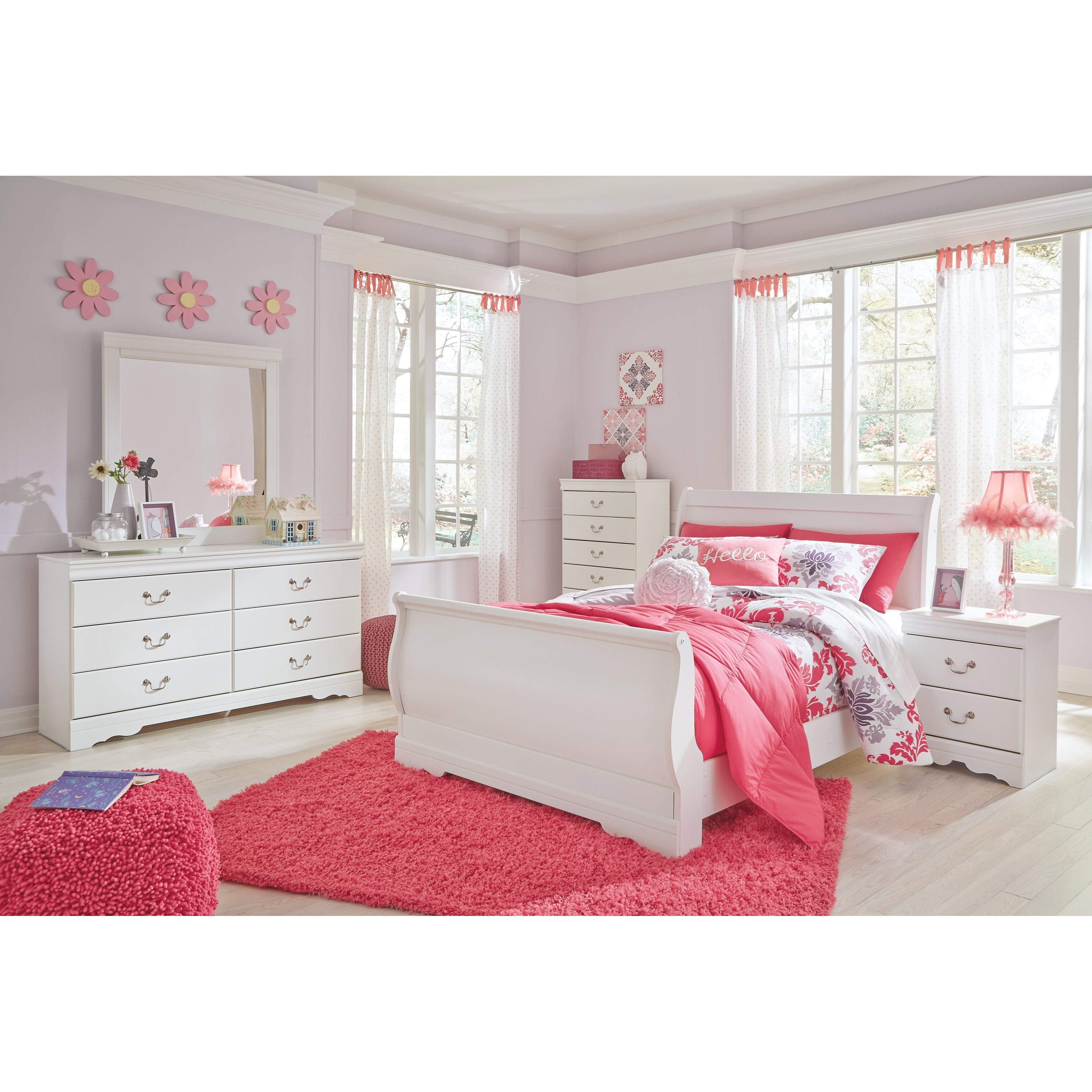 Ashley signature design anarasia full louis philippe - Ashley furniture full bedroom sets ...