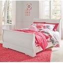 Signature Design by Ashley Anarasia Full Sleigh Bed - Item Number: B129-84+87+88