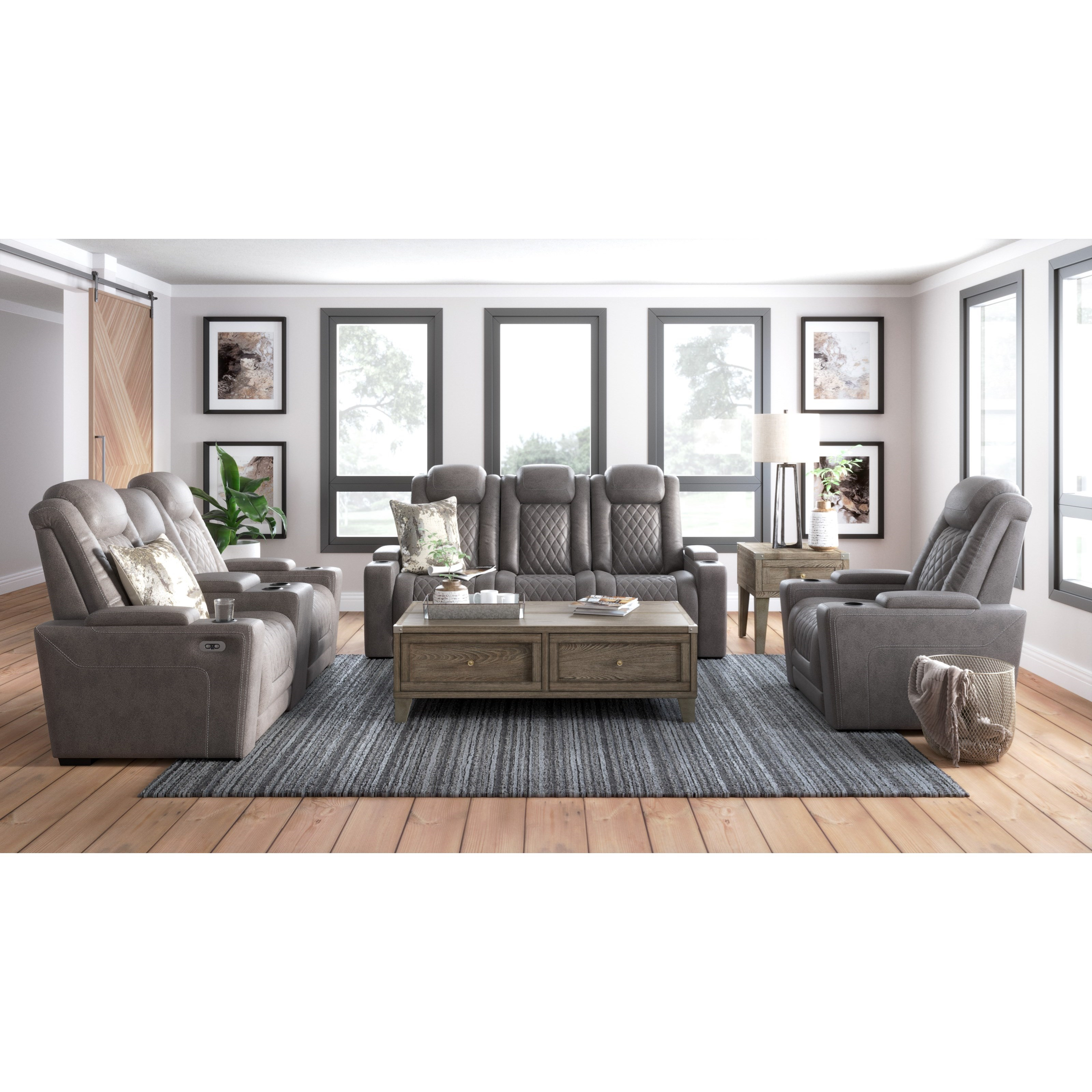 Hyllmont Power Reclining Living Room Group by Ashley (Signature Design) at Johnny Janosik
