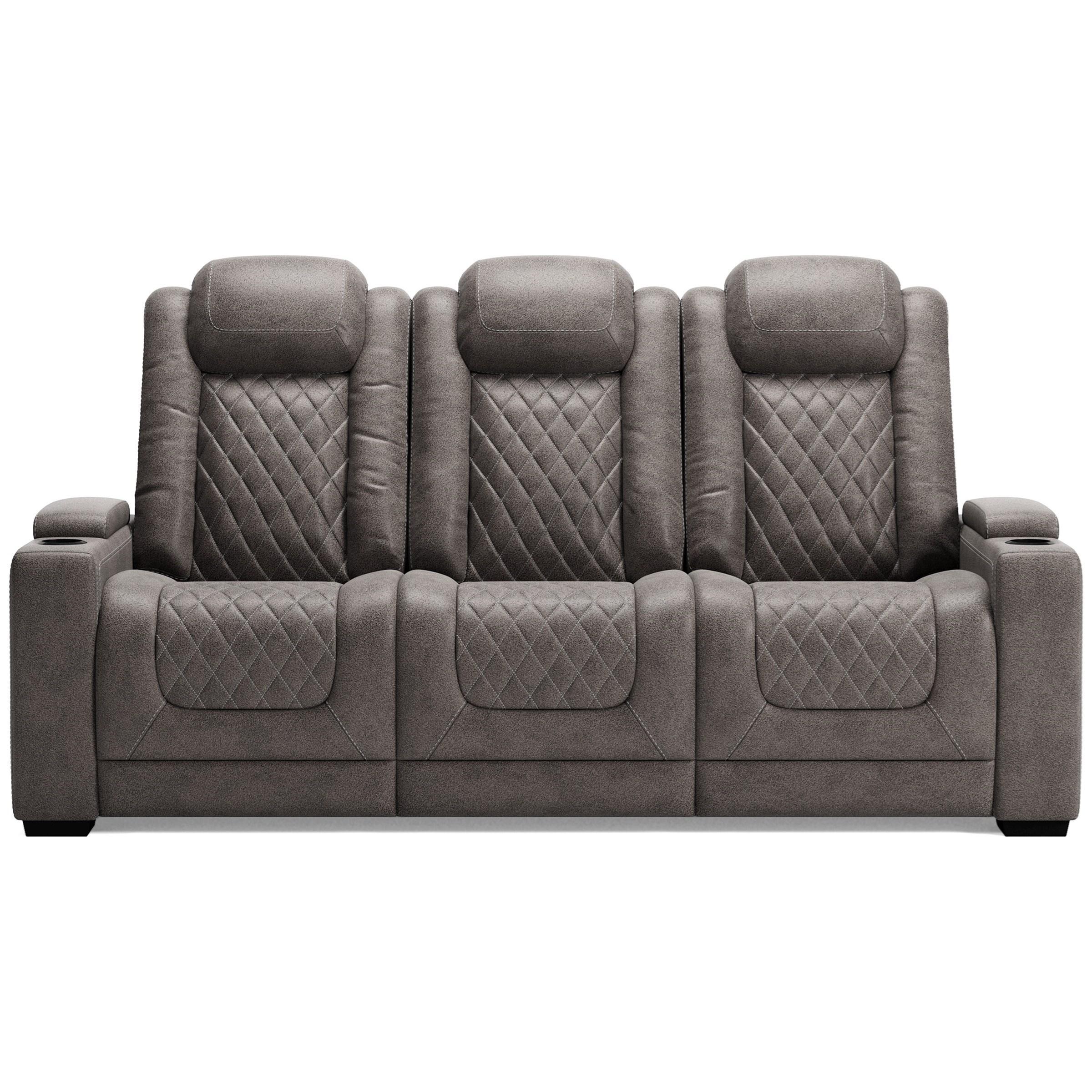 Hyllmont Pwr Rec Sofa with Adj Headrests by Ashley (Signature Design) at Johnny Janosik