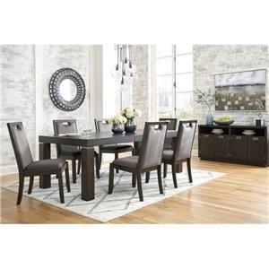 7-Piece Rectangular Dining Table Set