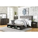 Signature Design by Ashley Hyndell California King Bedroom Group - Item Number: B731 CK Bedroom Group 1