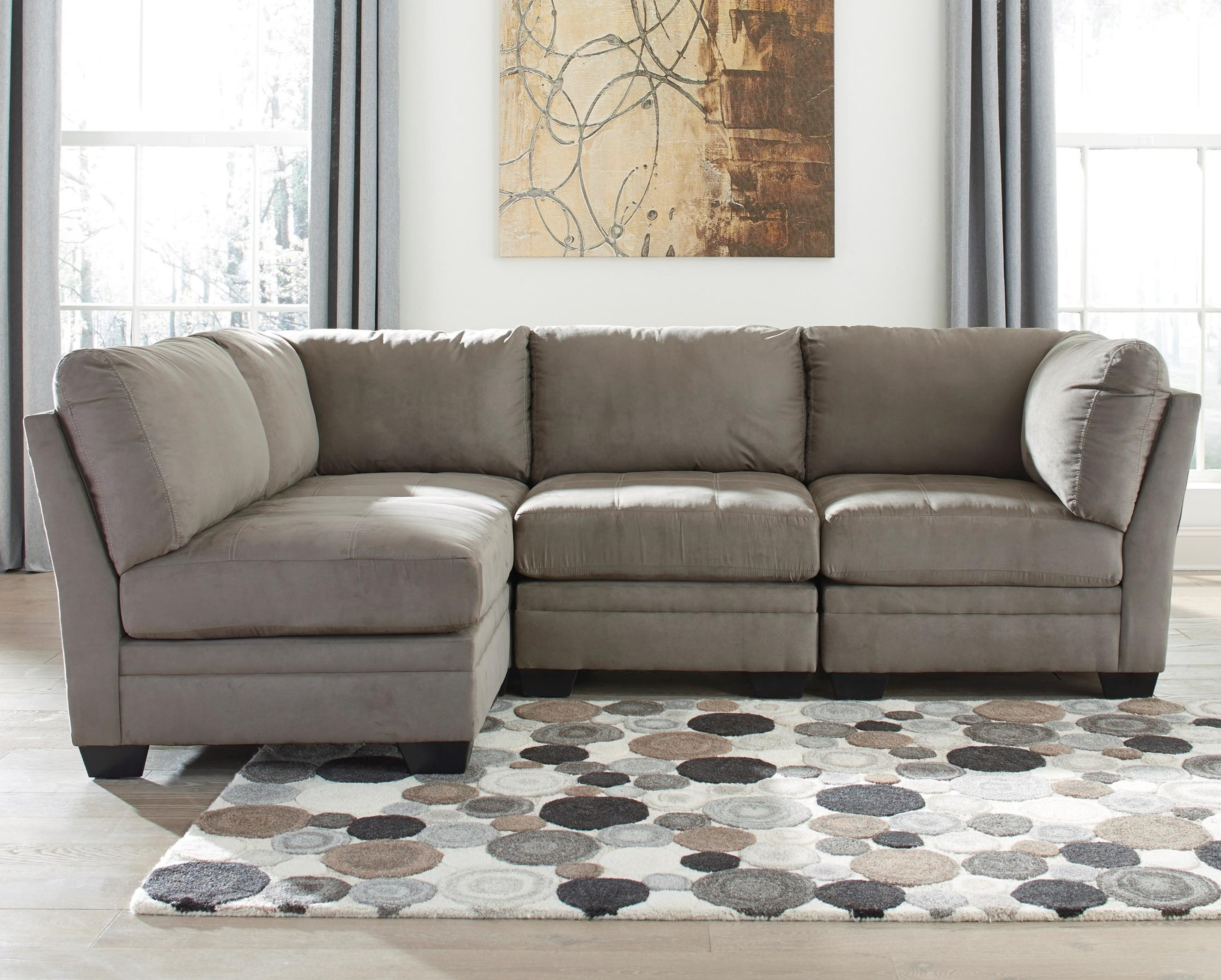 Signature Design by Ashley Iago 4-Piece Modular Sectional - Item Number: 6510346x2+2x51